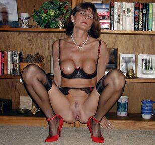 Tall mature ex-teacher posing in fabulous underwear and in..