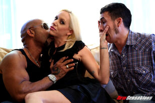 Ash-blonde wifey Kacey pulverizes a Big black cock while..