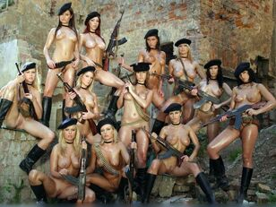 Super-sexy photoshoots with military babes.