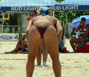 Ladies from beach volleyball in upps images