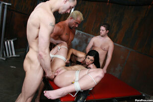 Lucious Lopez bondaged and predominated at  soiree