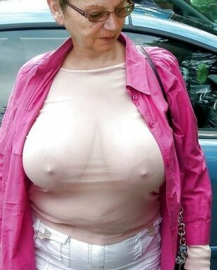 Naked grandmas displaying Naked jugs and  beavers in these..